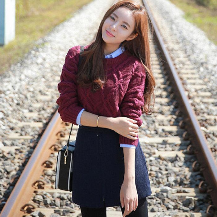 韩版毛衣套装裙子